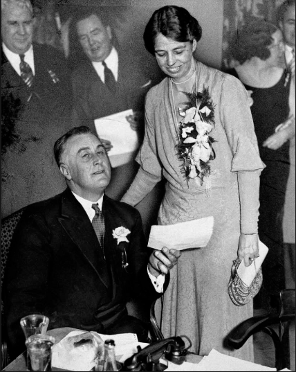 Eleanor Roosevelt pictured with husband and President Franklin D. Roosevelt