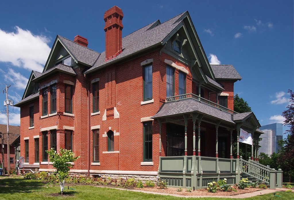 The Amos B. Coe house was built in 1884 and is listed on the National Register of Historic Places.
