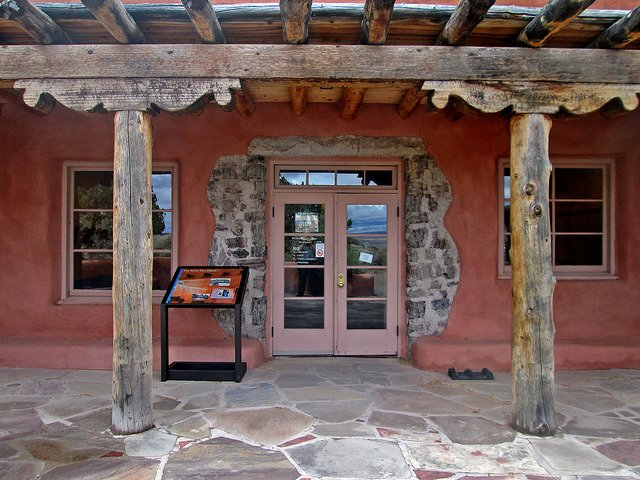 This is the entrance to the Painted Desert Inn.