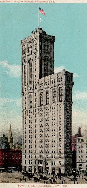 One Times Square, Also the Times Building, 1905