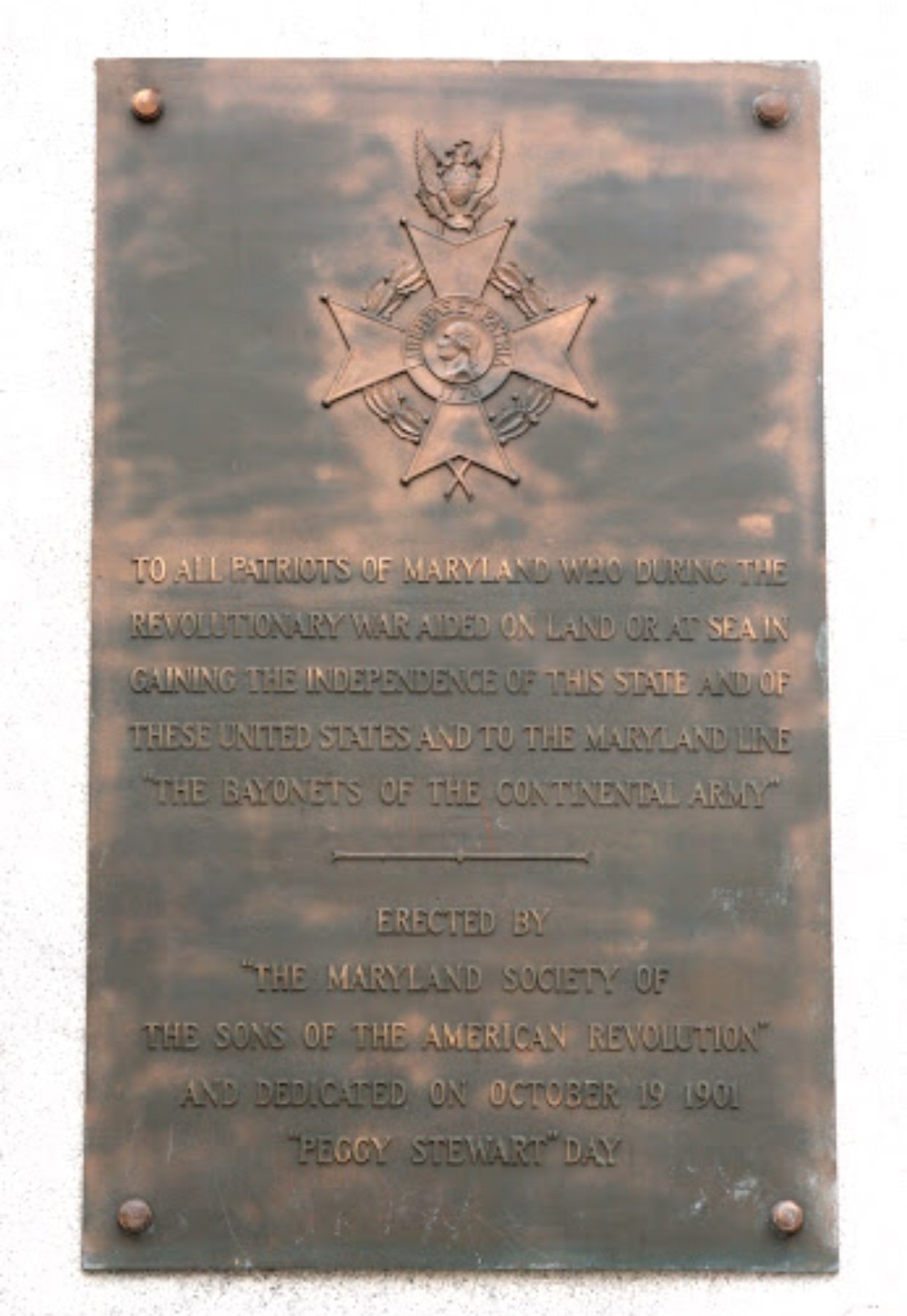 This is the plaque on the monument.