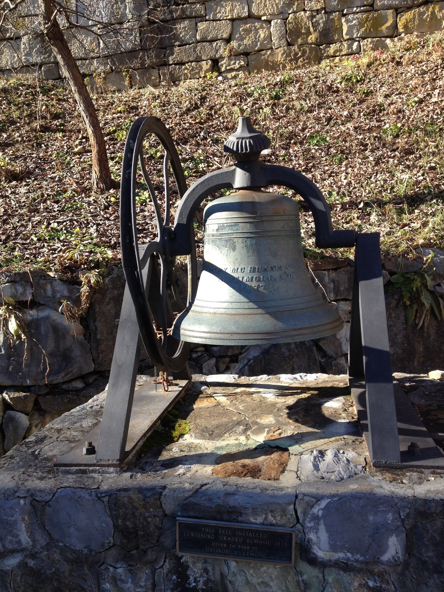 1878 bell from the Lewisburg Graded School.