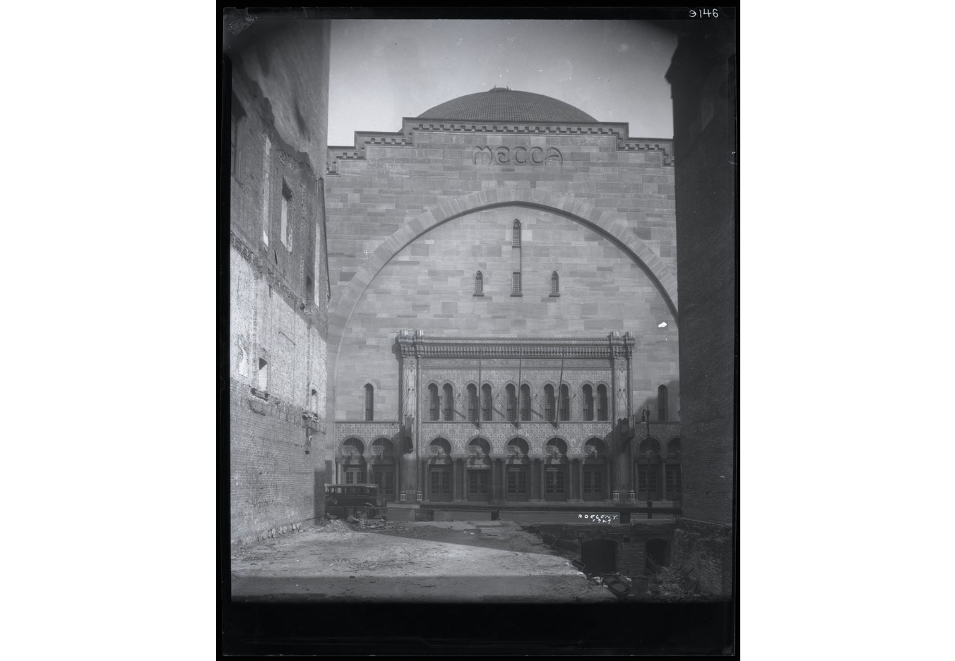 1929 Photo of the Mecca Temple