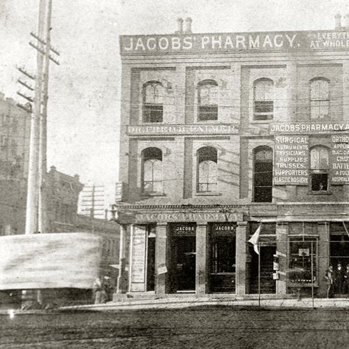 Jacobs' Pharmacy was the site of the first sale of a Coca-Cola beverage on May 8, 1886.