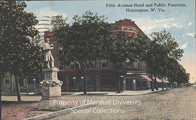 The Fifth Avenue Hotel and the Union Statue, circa 1915