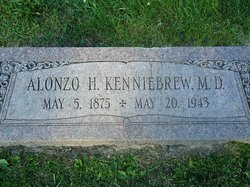 The gravestone of Dr. Alonzo Kenniebrew