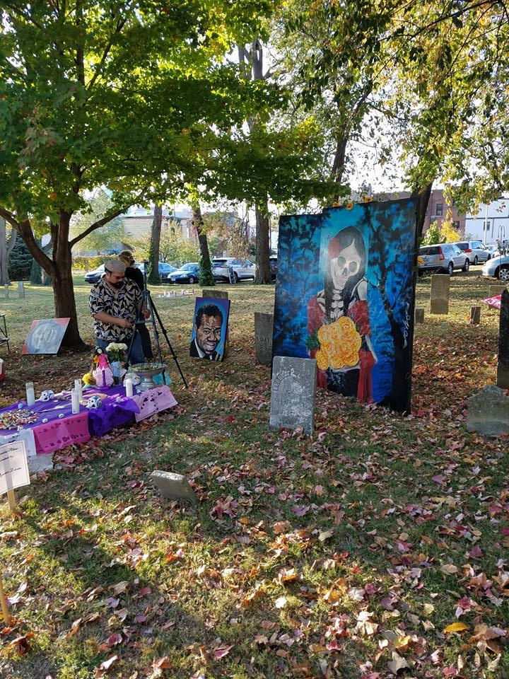Another Dia de los Muertos Celebration Day in The Old Episcopal Burying Ground