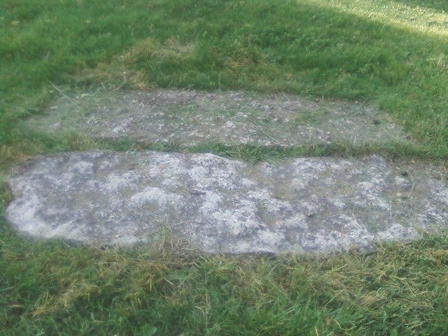 Two Graves that resemble Giant's Feet