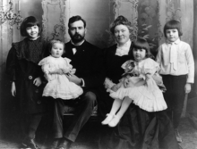 The Hemingway family (Ernest far right).