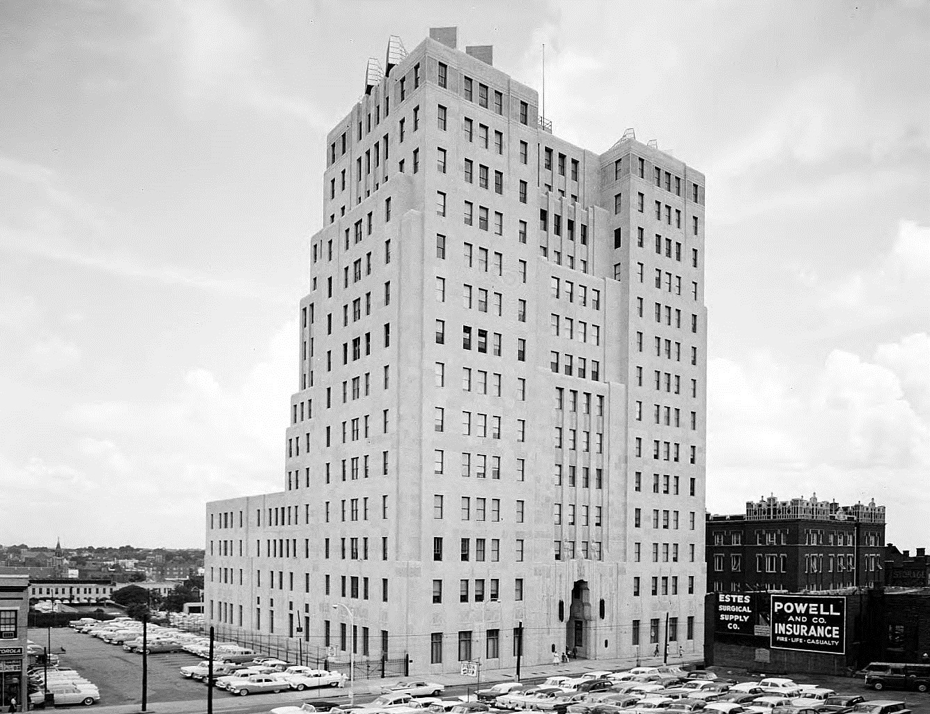 Southern Bell Telephone Building as it looked in 1961, before the AT&T tower was added a couple of years later. at 51 Ivy Street
