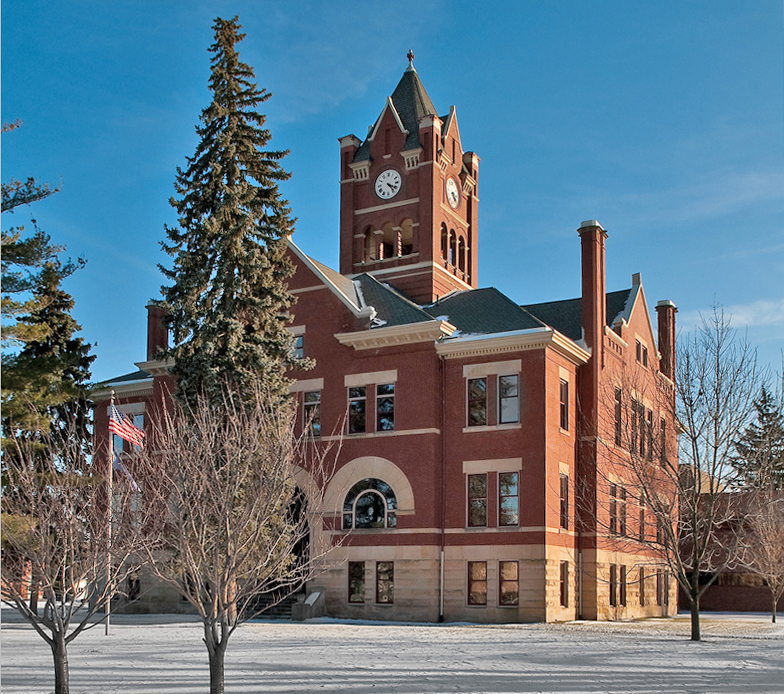 The St. Joseph County Courthouse was built in 1900.