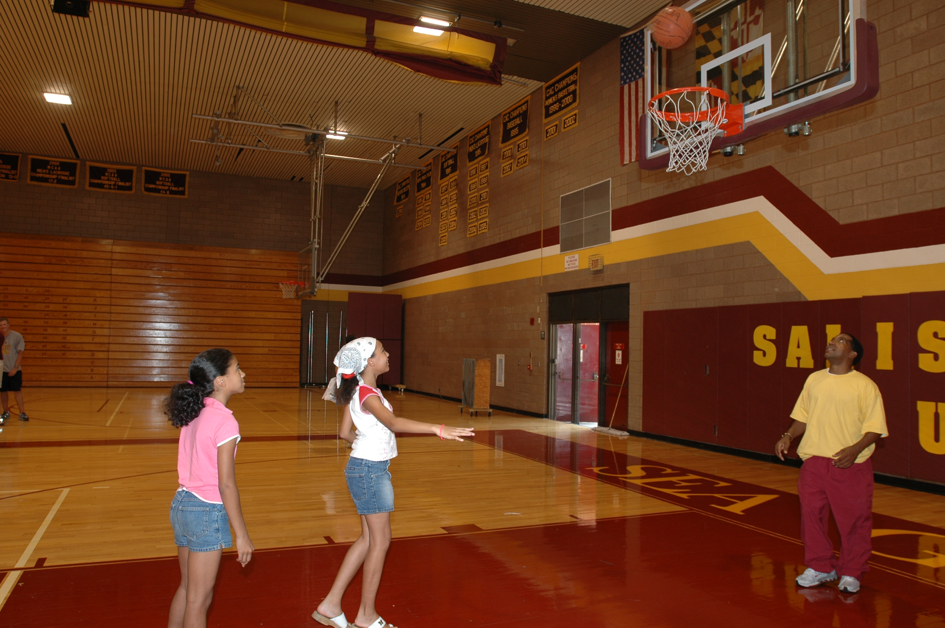 Basketball Court in Main Gym, 2005