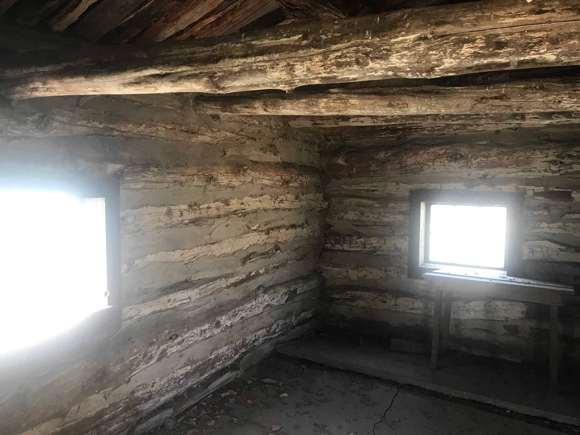 Inside the west cabin