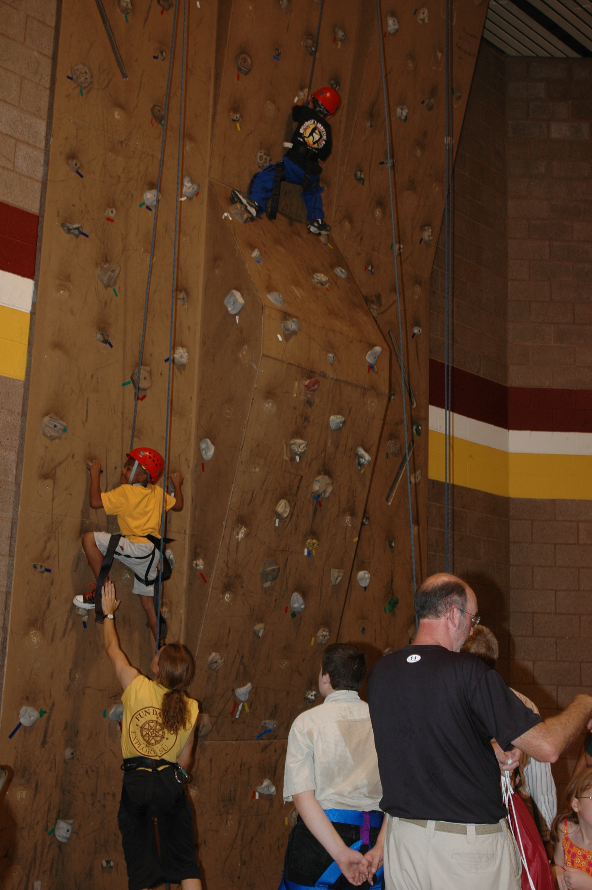 Rock Climbing Wall in Main Gym, 2005
