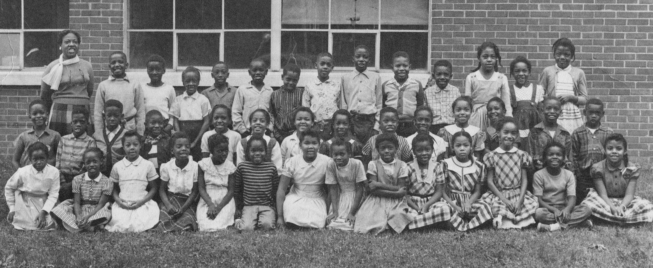 Mrs. Bazelia Harris' class at Franklin Training School. Mrs. Harris lived on Natchez Street near the school and was a long-time and much-beloved teacher.