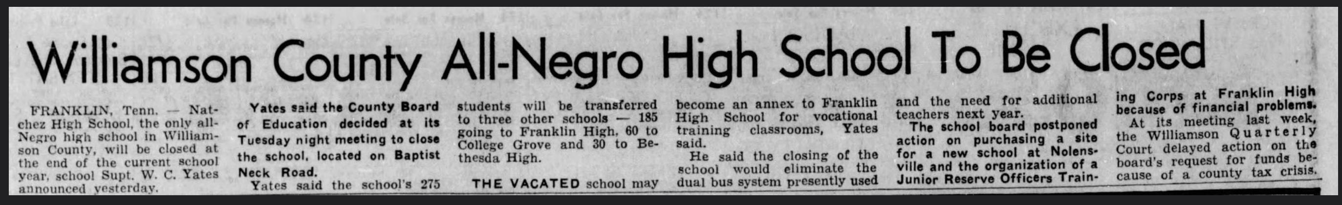 The_Tennessean_Fri__Jan_13__1967_ Natchez High School closed in 1967