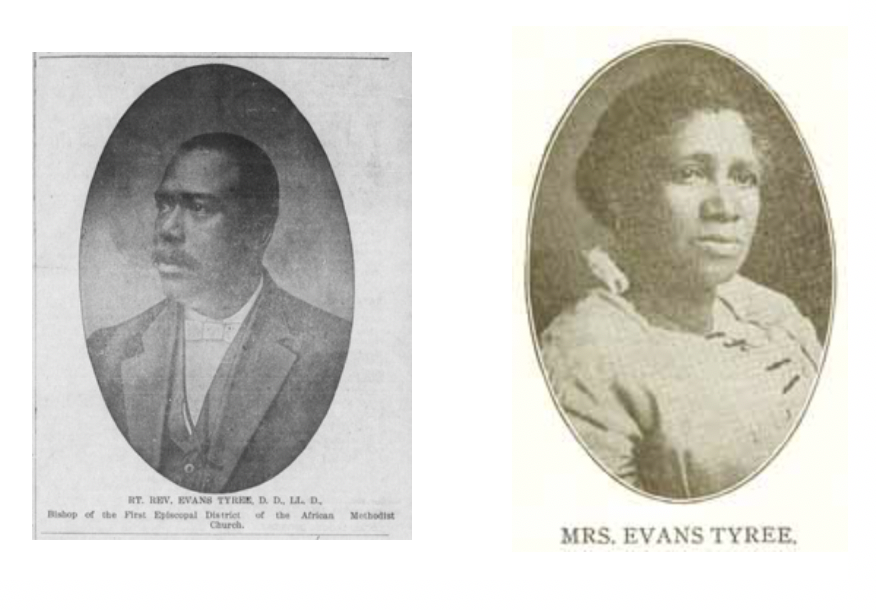 Bishop Evans Tyree and his wife who were leaders in the AME Church and instrumental in giving Shorter Chapel its strong start.