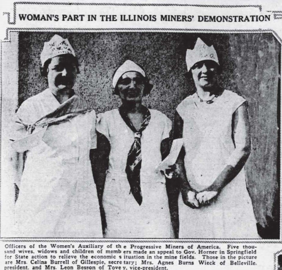 The women wore white as a uniform of solidarity. Agnes Burns Wieck is in the middle of this photograph. Learn more about her in the audio documentary.