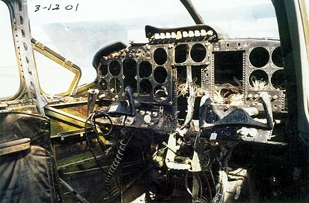 O-2 Cockpit before restoration