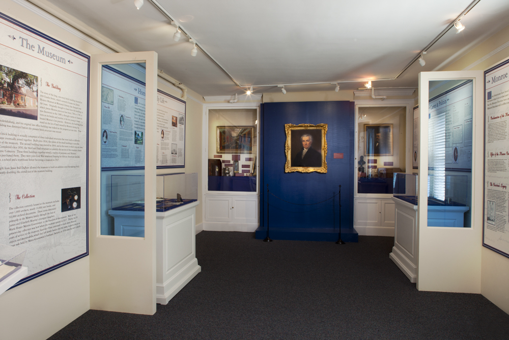 The orientation room at the James Monroe Museum and Memorial Library. Courtesy James Monroe Museum. Photo by Lee Brauer