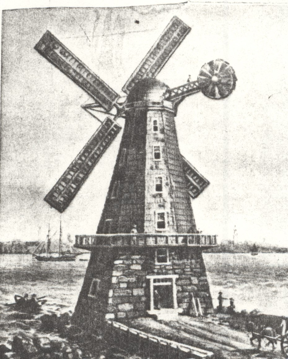 The Great Western Mill as it looked on its original site - taken from a copy of original print