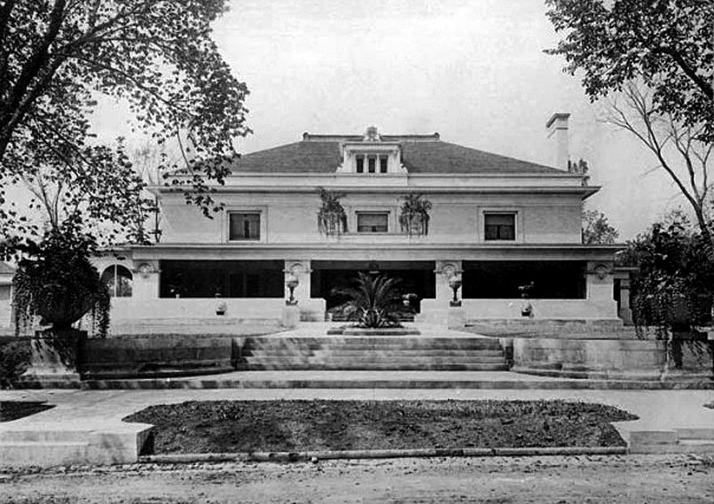 Black and white photo of Pleasant Home