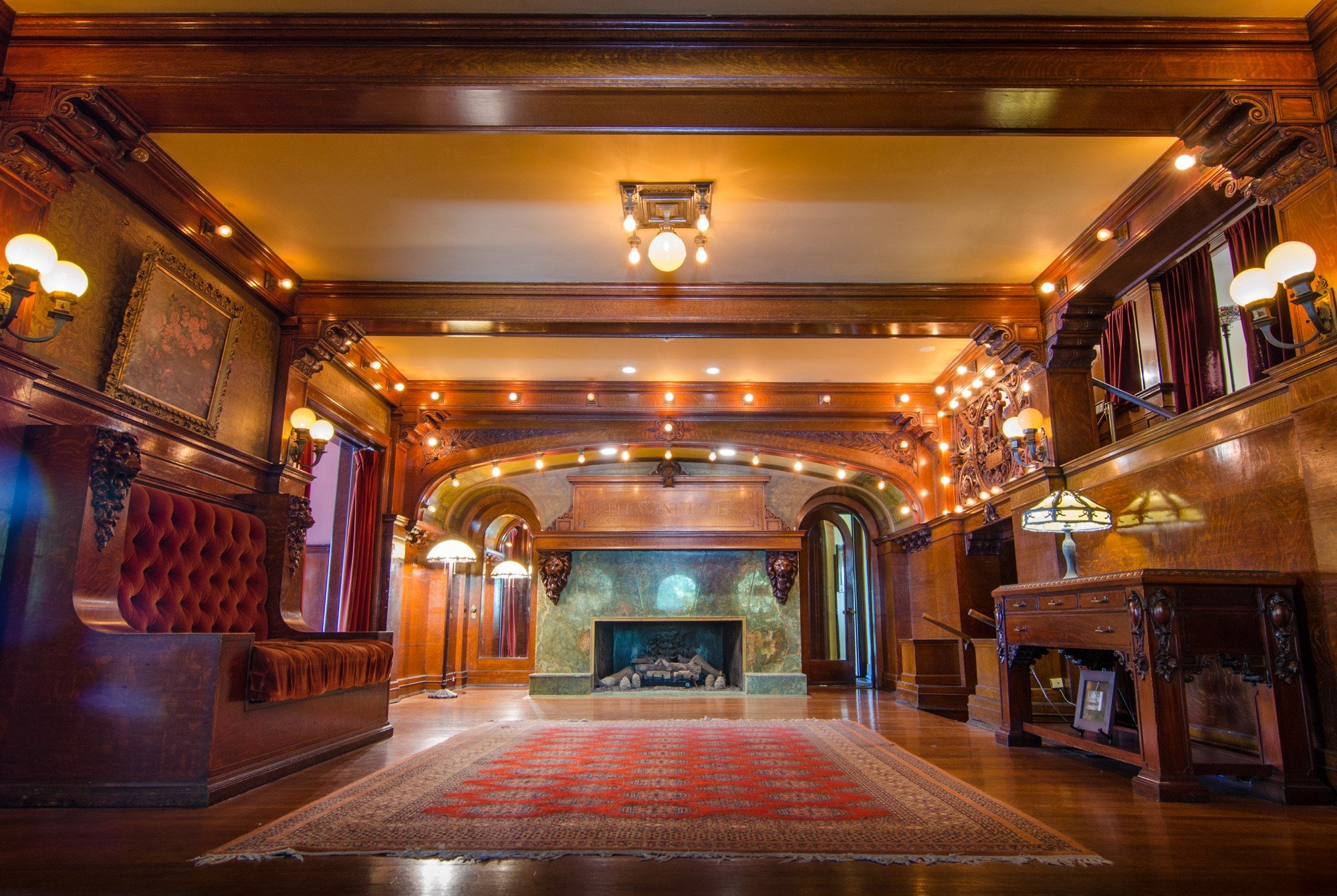 Interior Great Hall of Pleasant Home