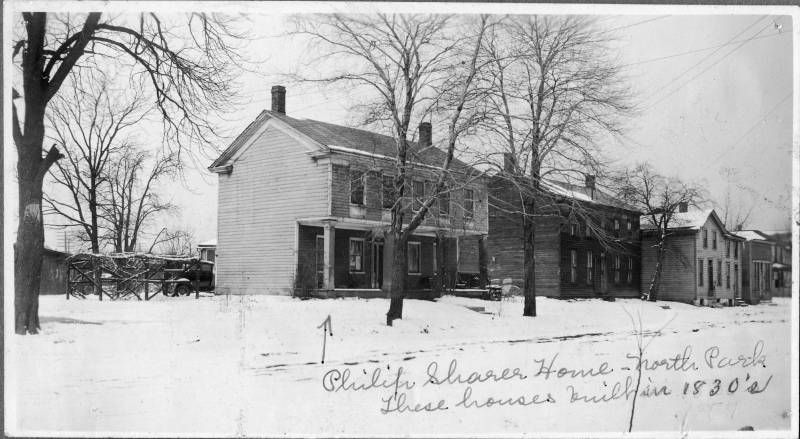 Philip Sharer home, built in the 1830s. The Sharer's were one of the pioneer families of Freedom.