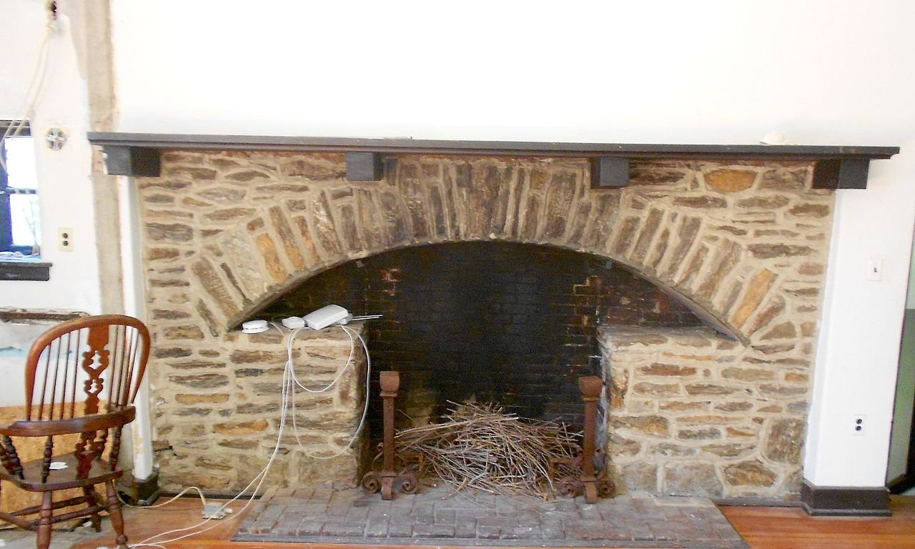 "The ""thunderbird"" fireplace is located in Charles Stephens' former studio."