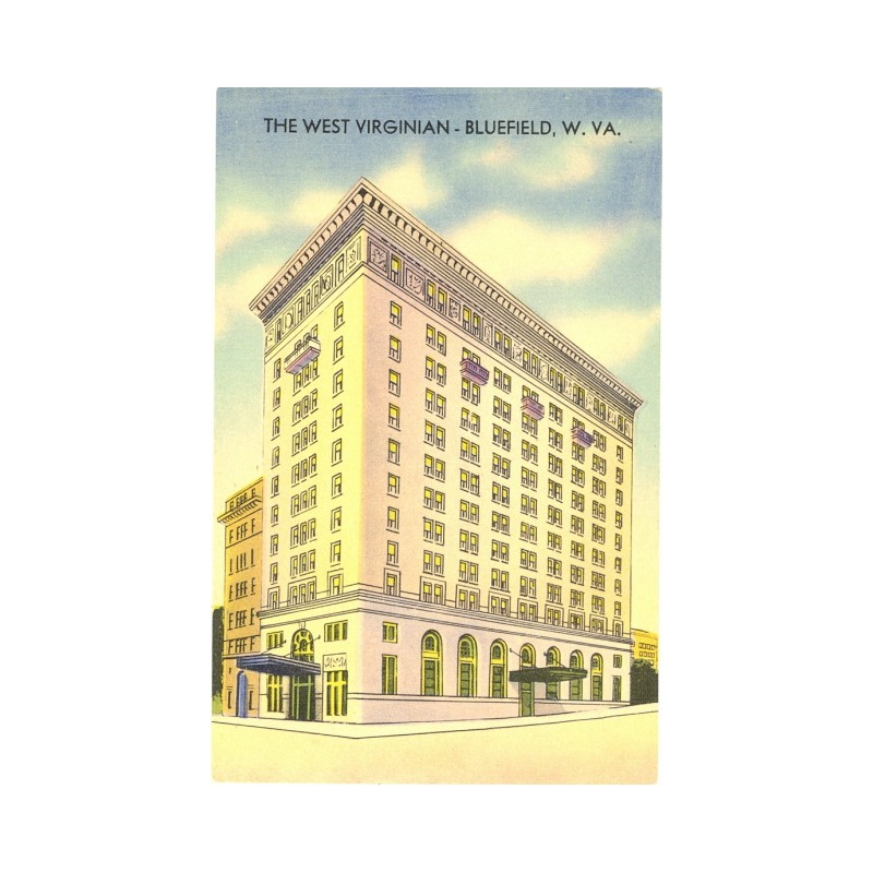 Historic postcard of the West Virginian Hotel