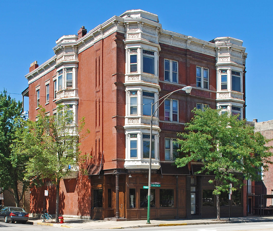Jennie Foley Building, also known as the Jennie Foley-Victor A. Arrigo Building, built in 1889 on Chicago's West Side.