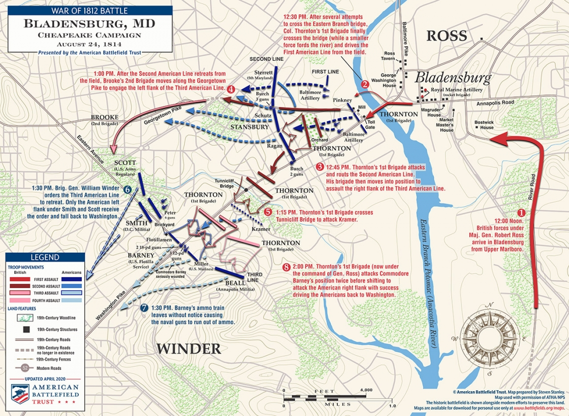 Battle of Bladensburg Map