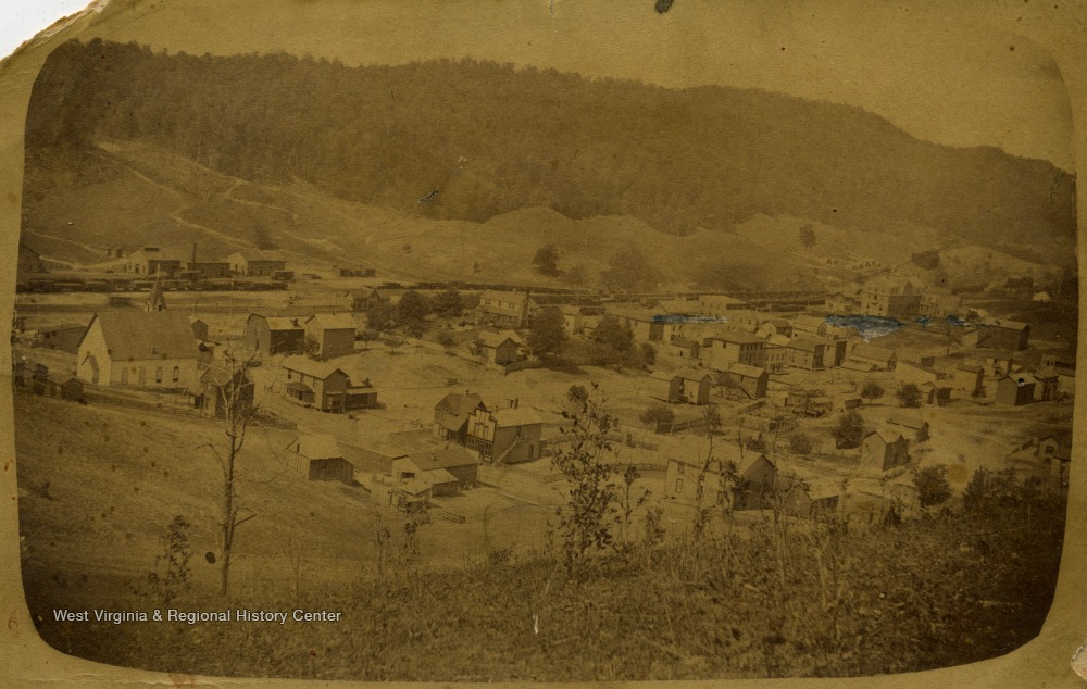 View of Bland Street in Bluefield, circa 1890.