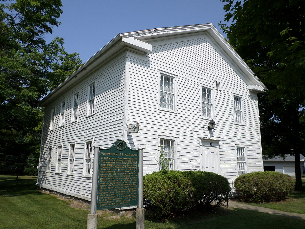 The Vermontville Historical Museum opened in 1966 and is housed in a historic building that once was an academy and church.