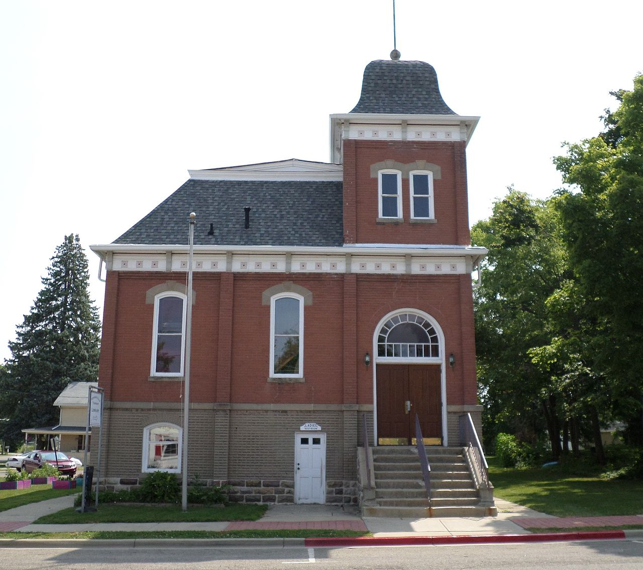 The Vermontville Opera House was built in 1896 and is now used as the town's library.
