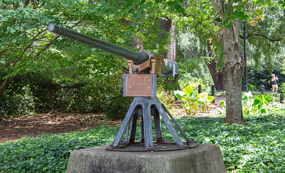 Gun from the U.S.S. Maine, 2019 (Battleship Maine Memorial).