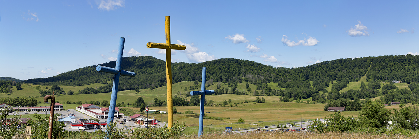 The first installation of Mr. Coffindaffer's Crosses. Copyright DJPittenger Photography.