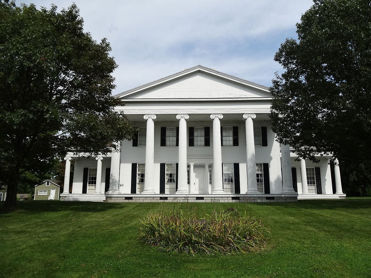 Rose Hill Mansion was built in 1839. It was declared a National Historic Landmark for its Greek Revival architecture, which is considered among the finest in the country.