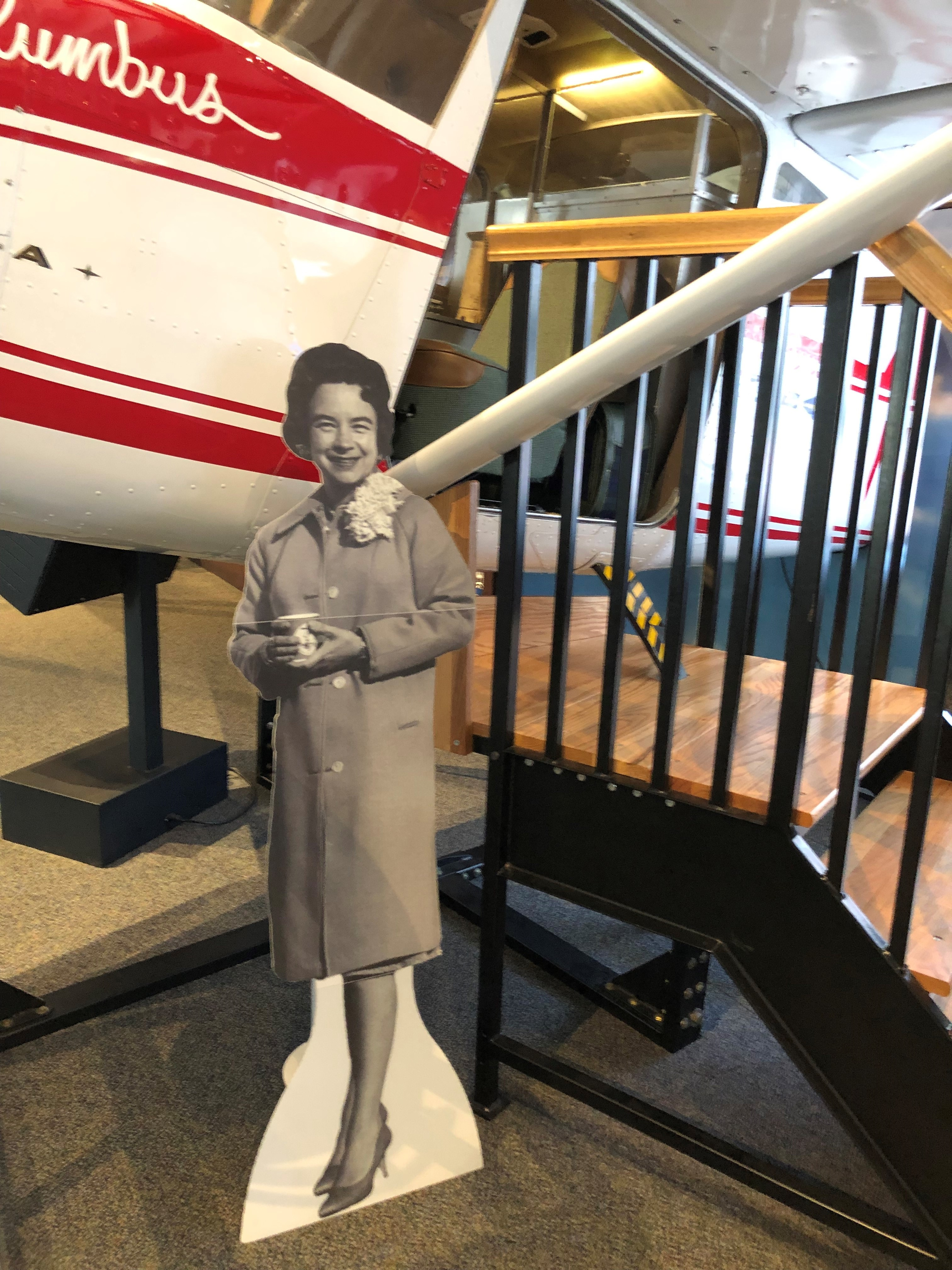 Climb aboard the Spirit of Columbus, but don't forget to take a picture with the pilot herself!