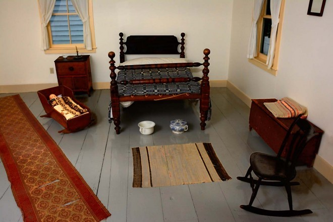 This is the room where Ingersoll was born. It features authentic period furniture.