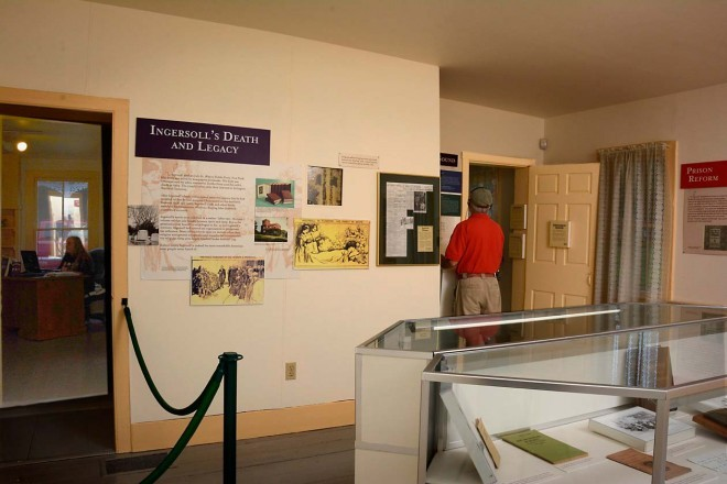 Visitors will see many historical items and interpretive signs on display.