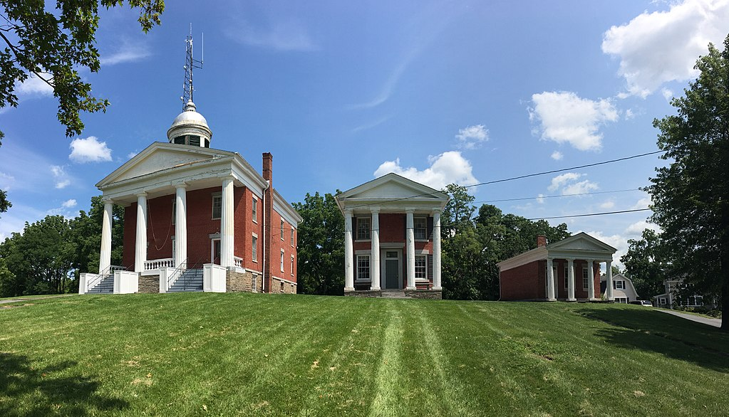 """These three structures comprise the former Seneca County Courthouse Complex. Because of their succession in size, they are known as the """"Three Bears."""""""