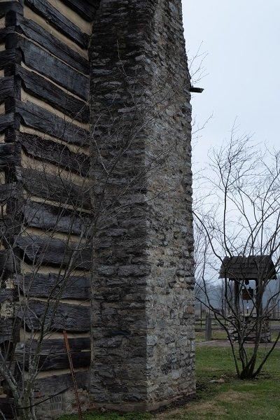 DeWitt Homestead stone chimney Photo by Todd A. Stuart