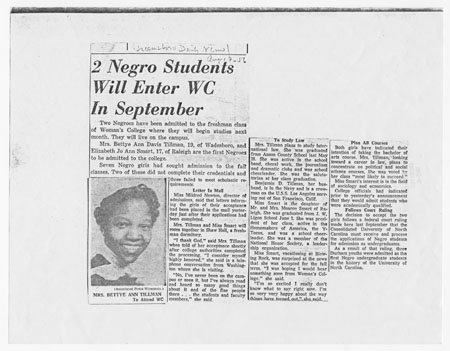 News article regarding the UNCG integration.