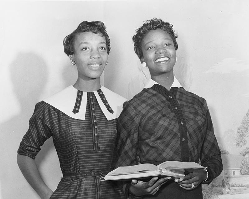 Joanne Smart and Bettye Ann Davis Tillman- the first Black students at UNCG.