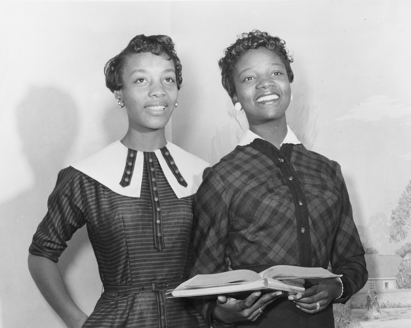 Joanne Smart and Bettye Ann Davis Tillman- the first Black students at UNCG.
