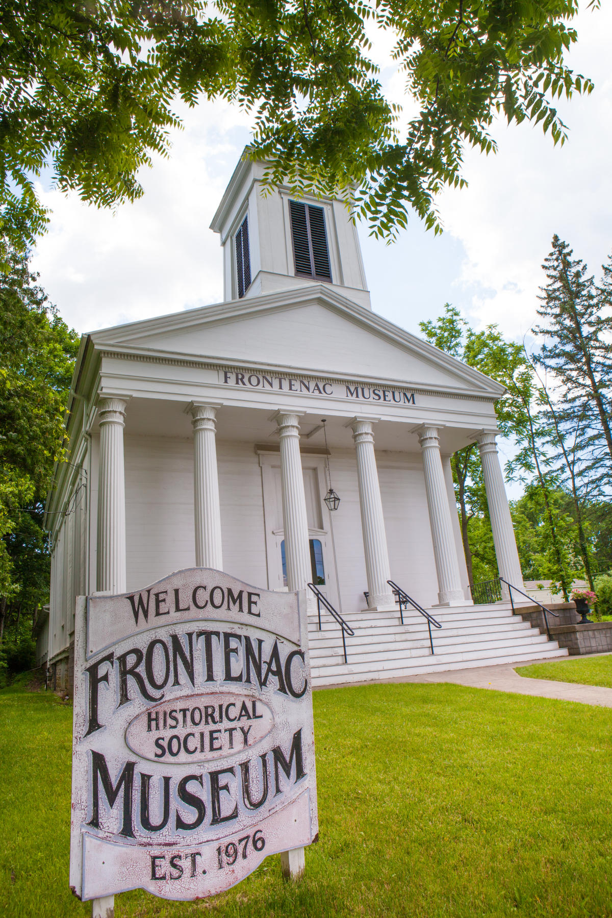 The Frontenac Historical Society & Museum is located in this historic Presbyterian church.