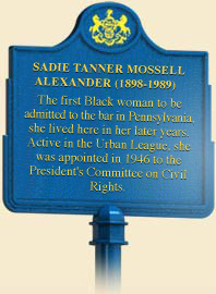 The marker for Sadie T.M. Alexander is located at 700 Westview Street, Philadelphia PA 19119, United States of America .
