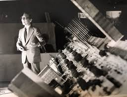 I.M. Pei Alongside a Scale Model of Downtown Augusta, GA