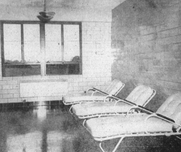 Solarium inside the sanatorium in 1950.